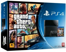 Sony PlayStation 4 500Gb Jet Black + Grand Theft Auto V / GTA 5 PS4