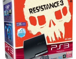Sony PS3 Slim 320Gb + Resistance 3