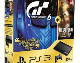 Sony PS3 Super Slim 500Gb + Gran Turismo 6 + The Last Of Us